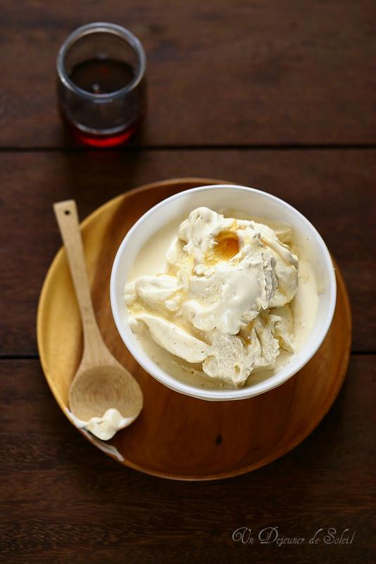 Glace à la vanille et au sirop d'érable