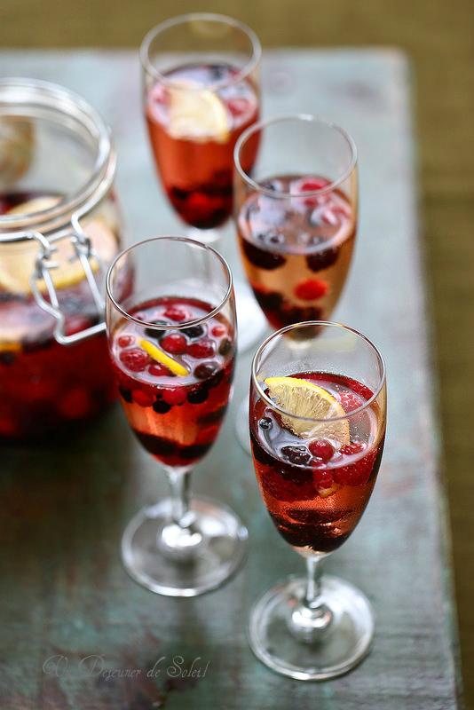 Cocktail champagne fruits rouges et sauternes