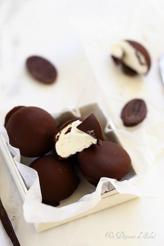Bonbons glacés vanille chocolat façon bomboniera