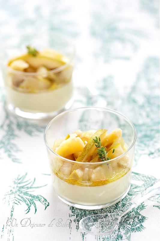 Panna cotta au parmesan et aux poires