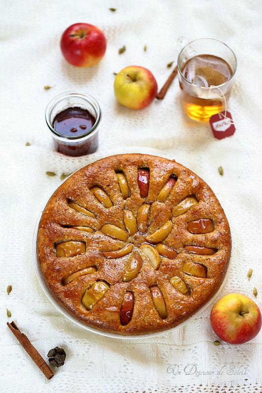 G teaux et tartes aux pommes vingt recettes un d jeuner de soleil - Tarte soleil aux pommes ...