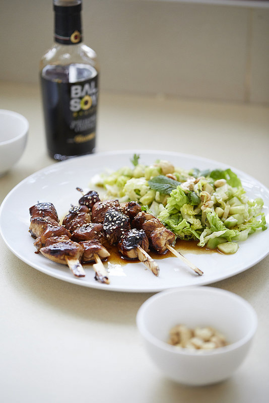 Brochettes de poulet à l'asiatique