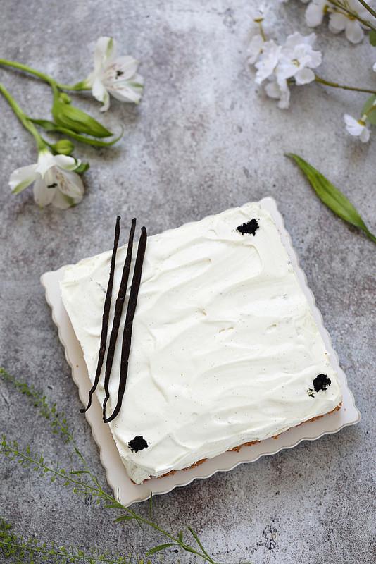 Entremets très vanille sans gluten. Facile et delicieux