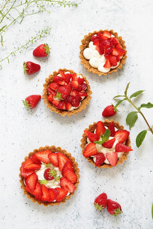 Tarte aux fraises sans cuisson, rapide, facile et gourmande