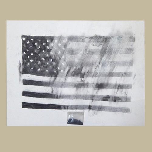 Joshua Neustein, Partially Erased US Flag