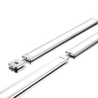 "Lux Light 18 Inch 3000K 2-Pack Super Slim Linear Neutral White LED Under Cabinet Lighting System with IR sensor and 12V Adapter - Ultra Bright and Light (18"" 3000K 2-Pack)"
