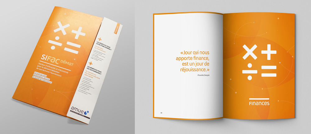 New Logo and Identity for AMUE by Graphéine