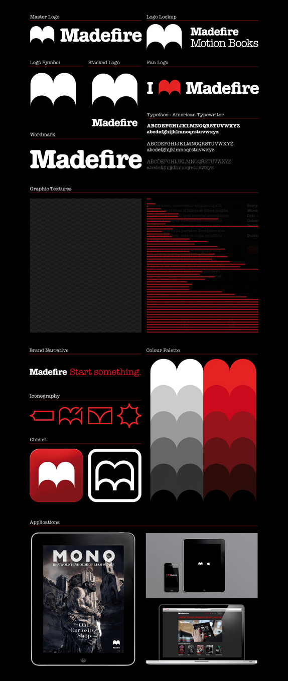 Madefire Logo, Identity, and UI