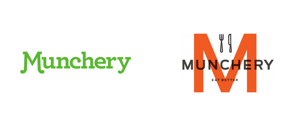 New Logo and Identity for Munchery done In-house