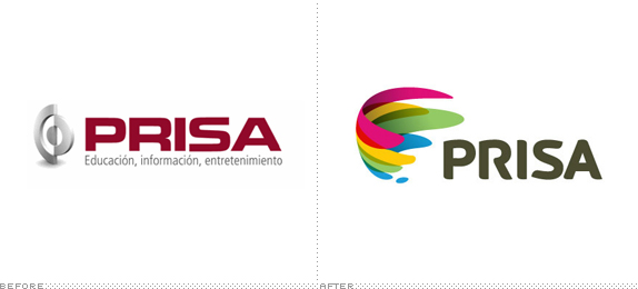 PRISA Logo, Before and After
