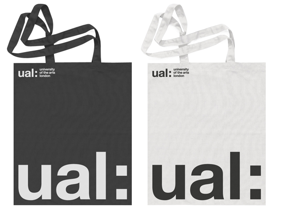 UAL Brand Identity in Helvetica