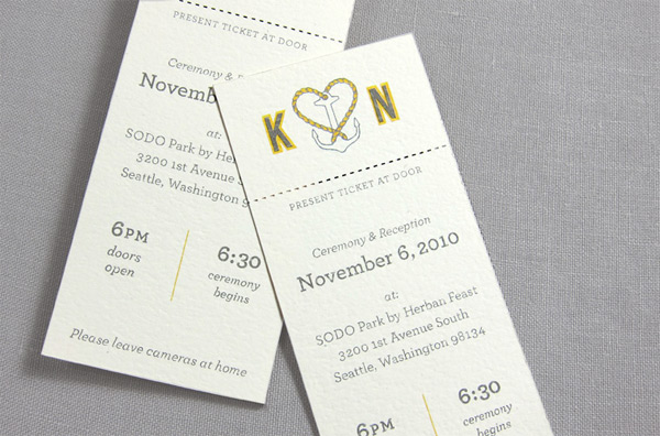 Indigo Bunting Fold Out Invitation Perforated Rsvp