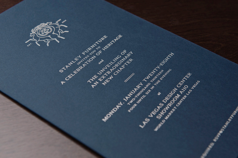 FPO Stanley Furniture Rebrand Launch Party Invitations