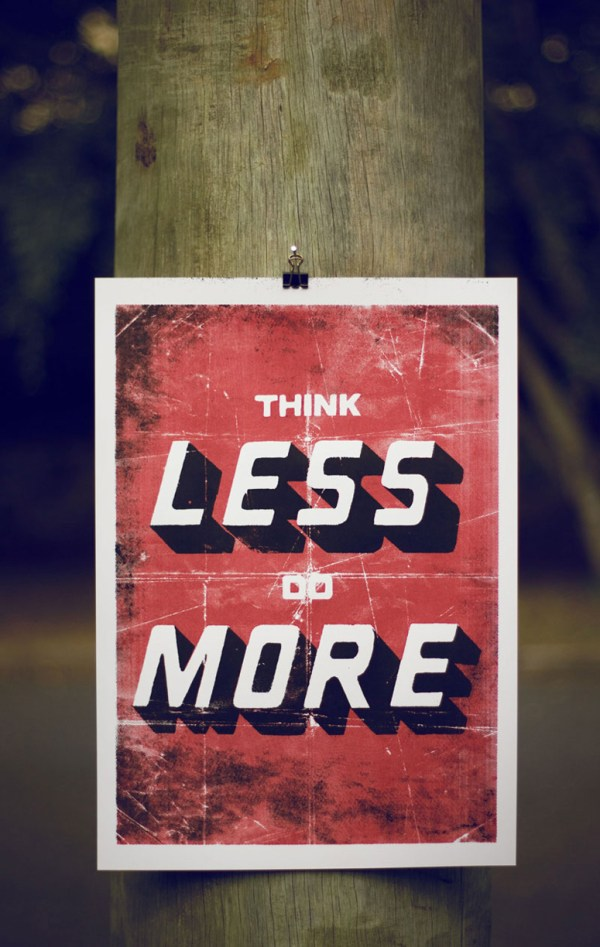 FPO Think Less Do More Poster