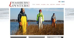Washburn Island Oysters home page. Site design by Morningstar Design.