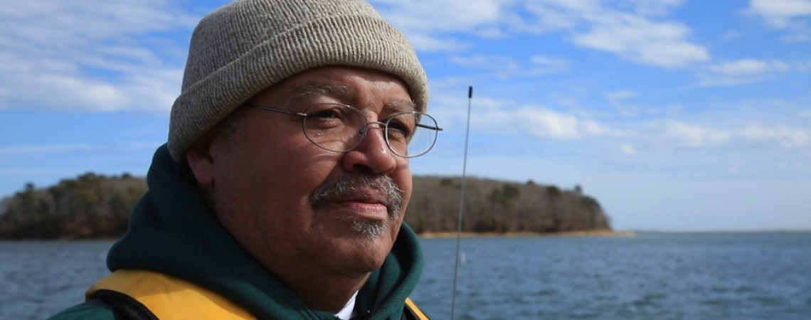 """George """"Chuckie"""" Green, the Mashpee Wampanoag Tribe's assistant director of natural resources, reflects on the past abundance of fish and shellfish in Popponessett Bay, which sustained the tribe for generations."""