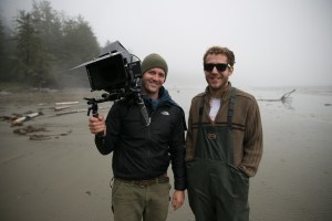 UnderCurrent Productions DP Daniel Cojanu (left) and his camera assistant on the WTOMTS shoot in British Columbia