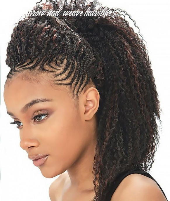 10 best braided hairstyles for women in 10 the trend spotter half cornrow and weave hairstyles