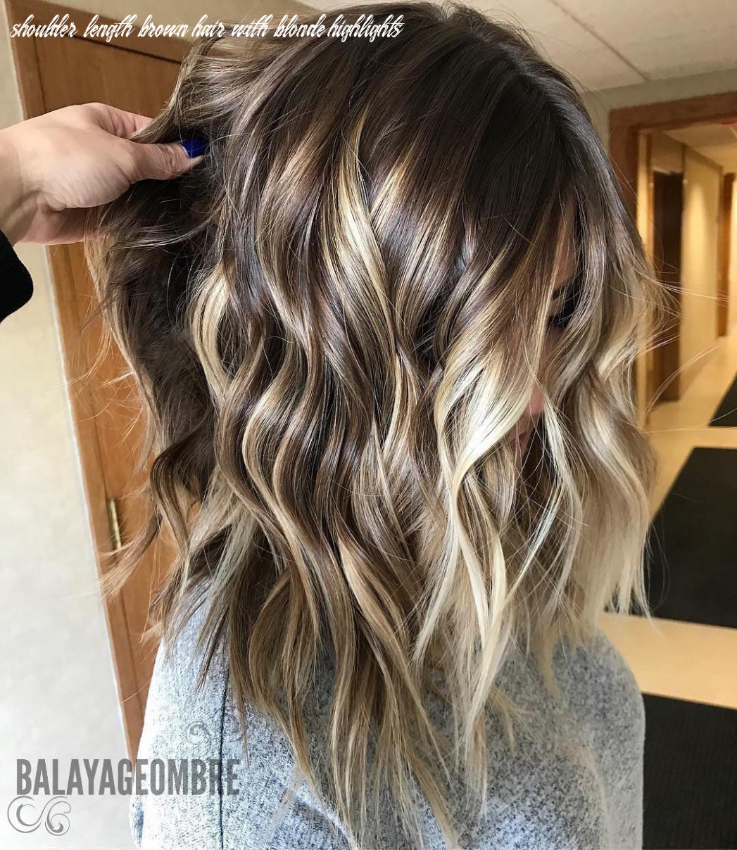 10 trendy brown balayage hairstyles for medium length hair 10 shoulder length brown hair with blonde highlights