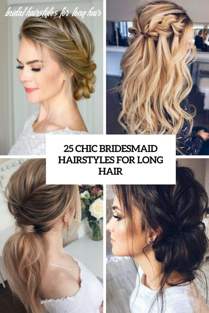 11 chic bridesmaid hairstyles for long hair weddingomania bridal hairstyles for long hair