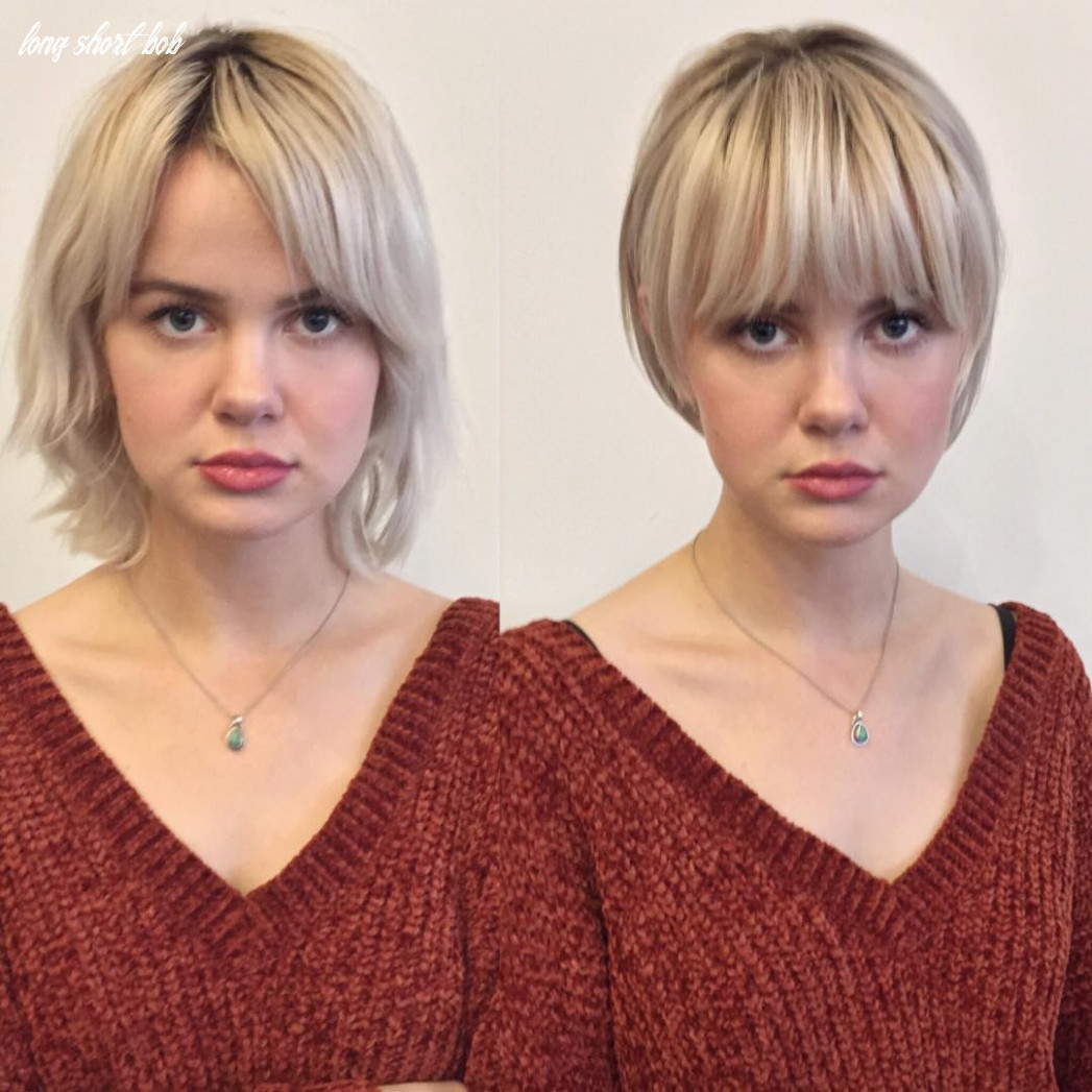 12 trendy before and after transformations from long hair to short