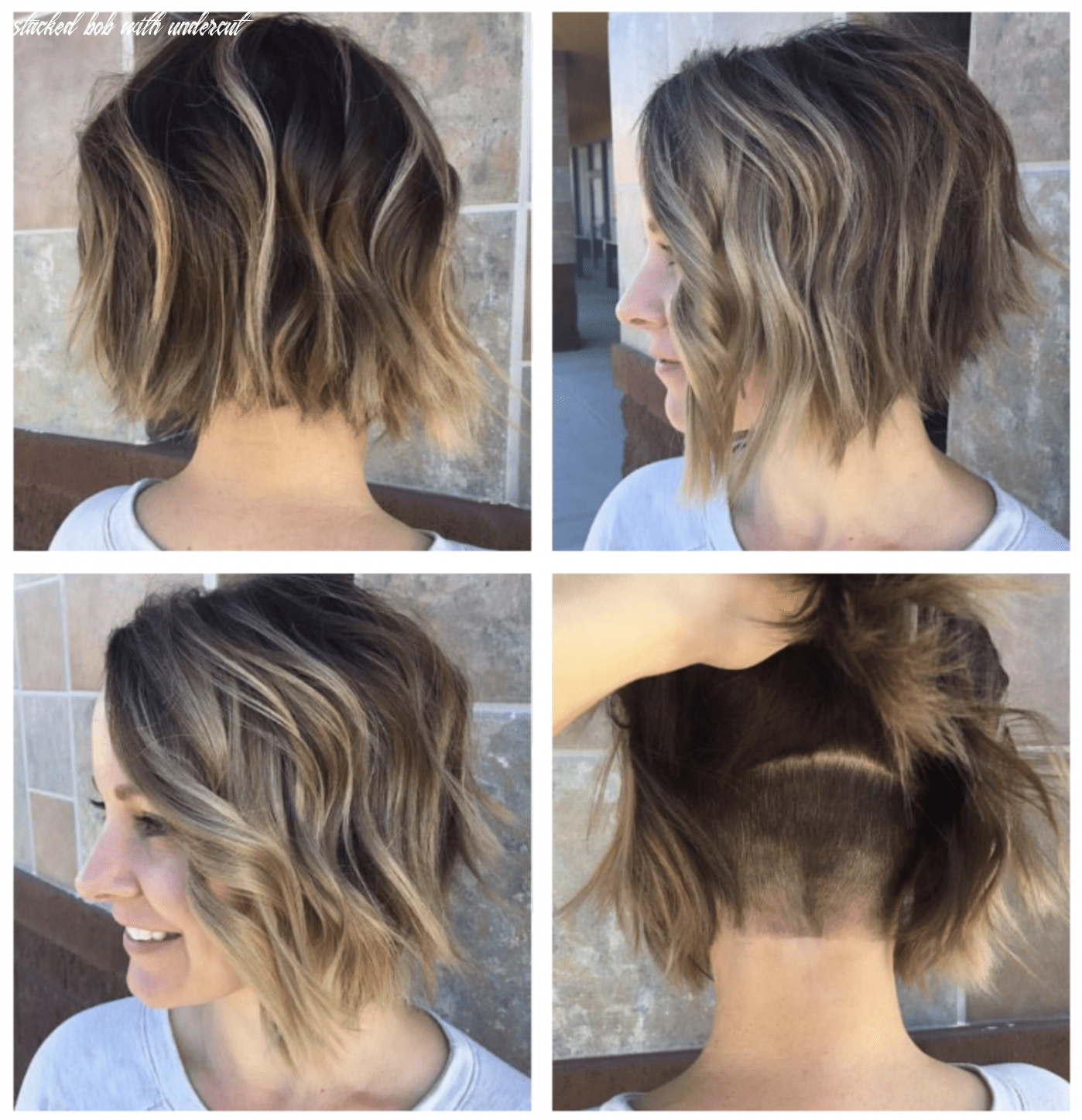 Angled bob with hidden undercut (with images)   bob hairstyles for