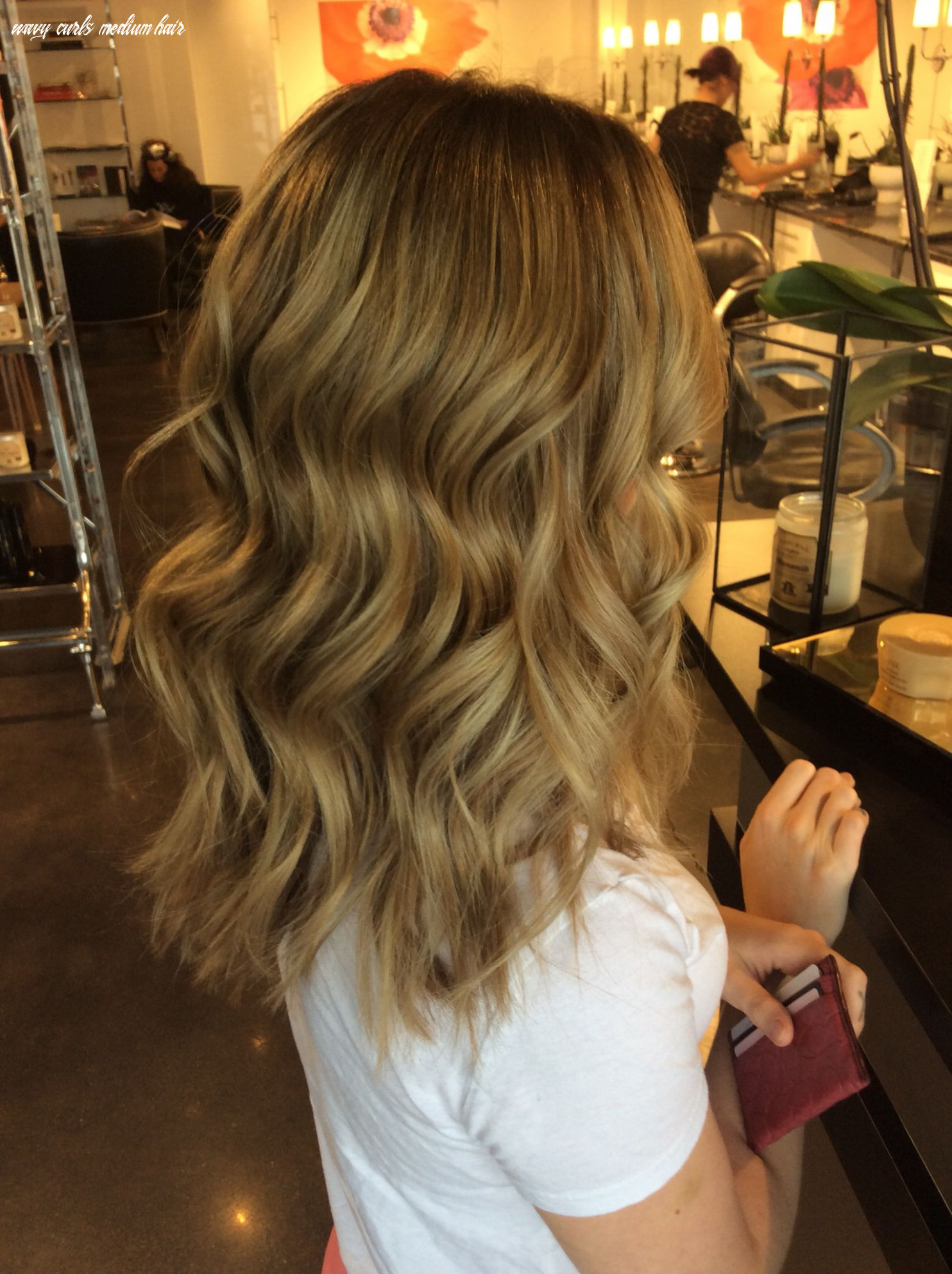 Beautiful tousled waves on medium length hair (with images