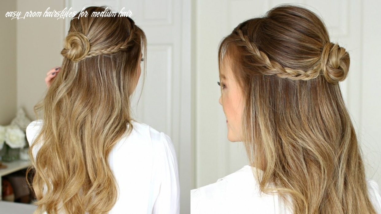 Easy half up prom hairstyle   missy sue easy prom hairstyles for medium hair