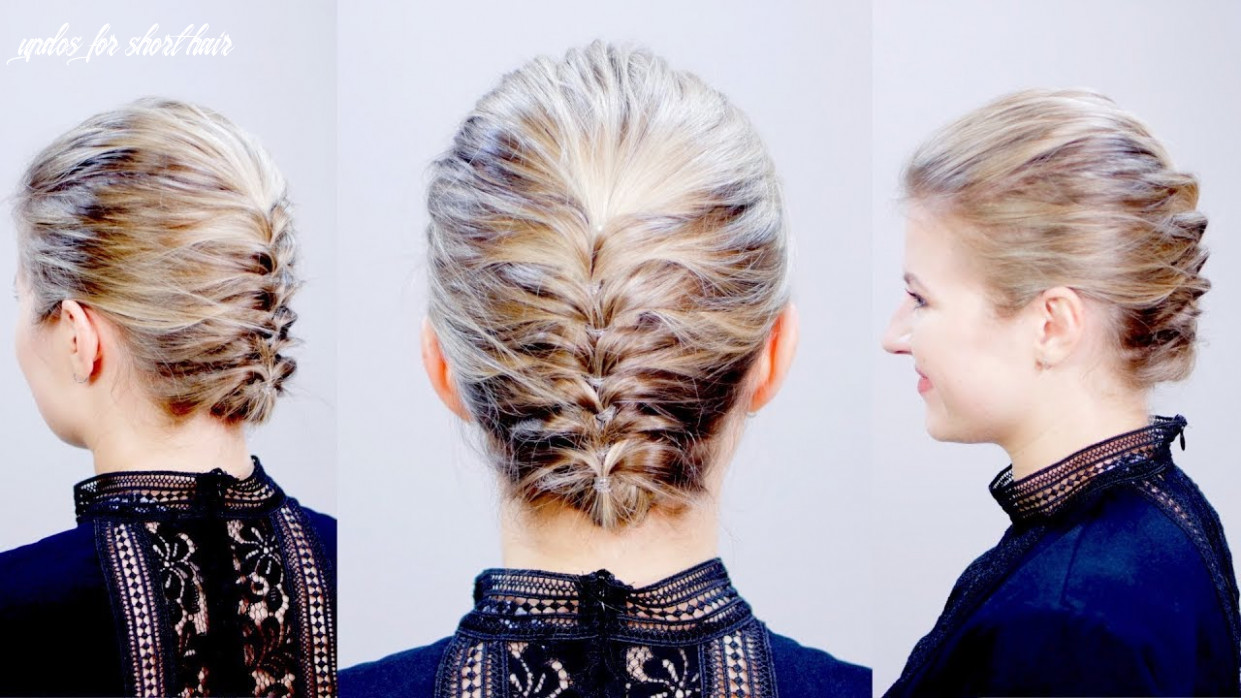 Hairstyle of the day: easy elegant textured updo for short hair | milabu updos for short hair