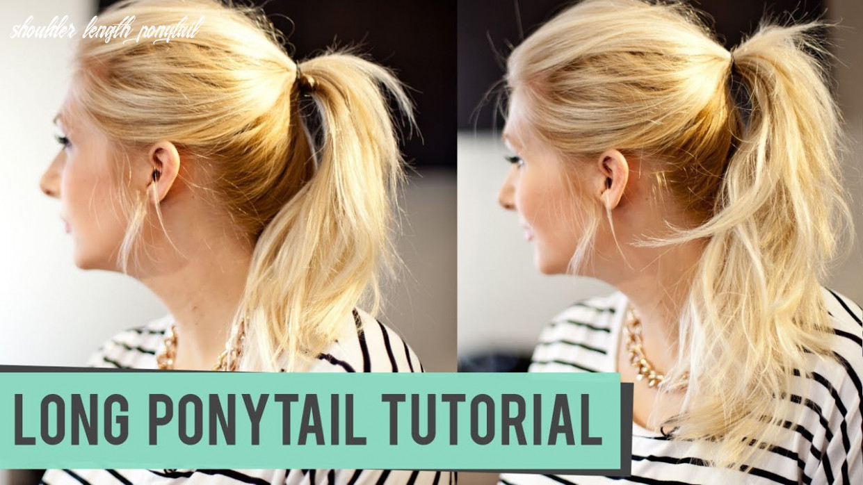 How to fake a longer pony tail for medium to long length hair shoulder length ponytail