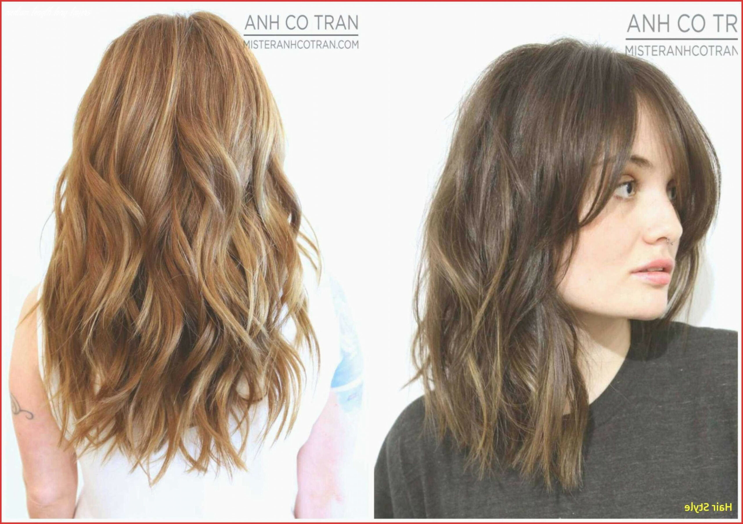 Long layered hair with bangs new medium length hairstyles with