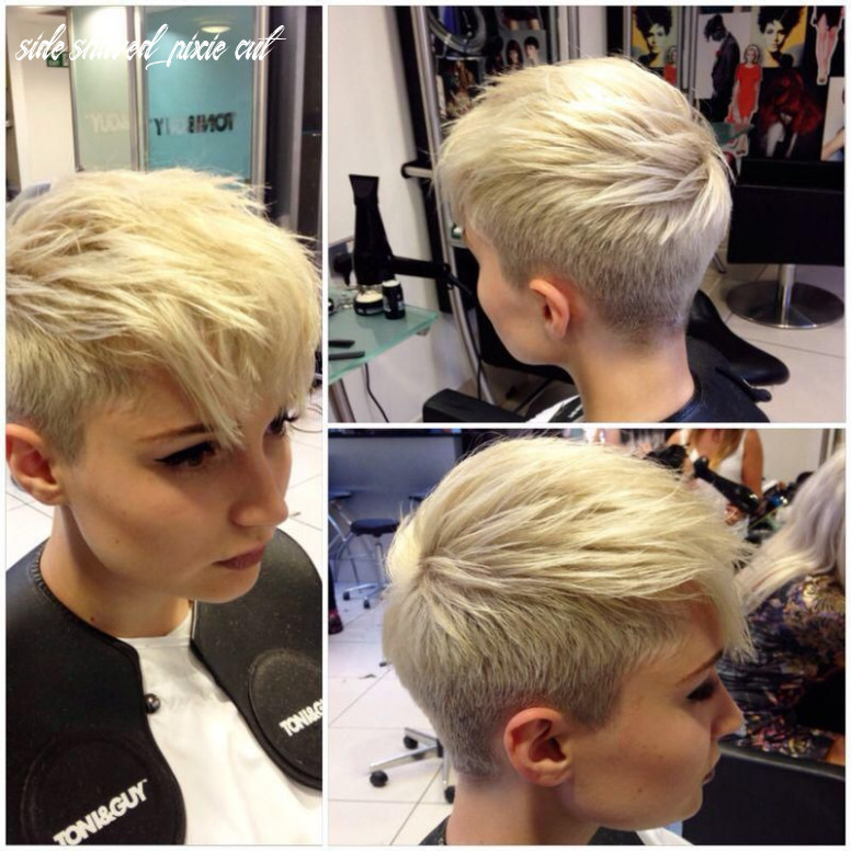 Pin on goodlooking side shaved pixie cut