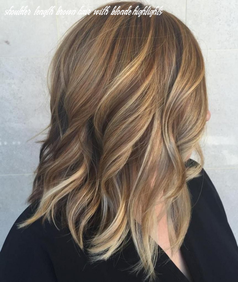 Pin on hair shoulder length brown hair with blonde highlights