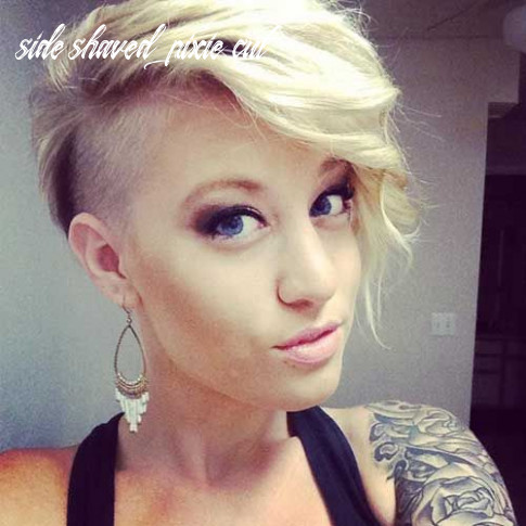 Pin on hair side shaved pixie cut