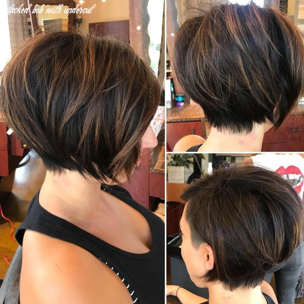Pin on hair stacked bob with undercut
