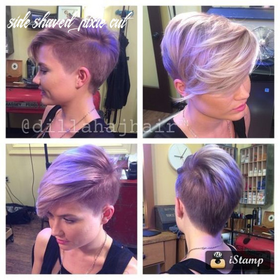 Pin on haircut side shaved pixie cut