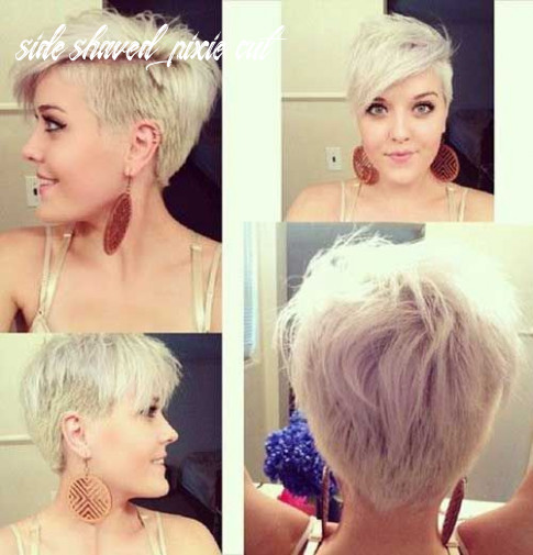 Pin on undercut side shaved pixie cut