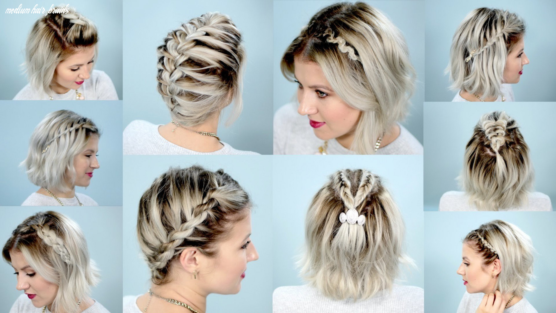 Shoulder length hair braiding: 9 easy to use instructions for
