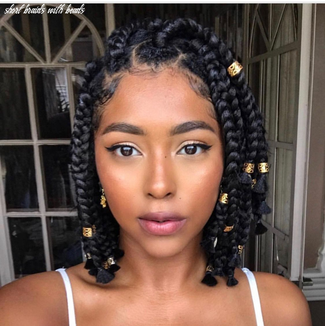 These 11 short fulani braids with beads are giving us life in 11