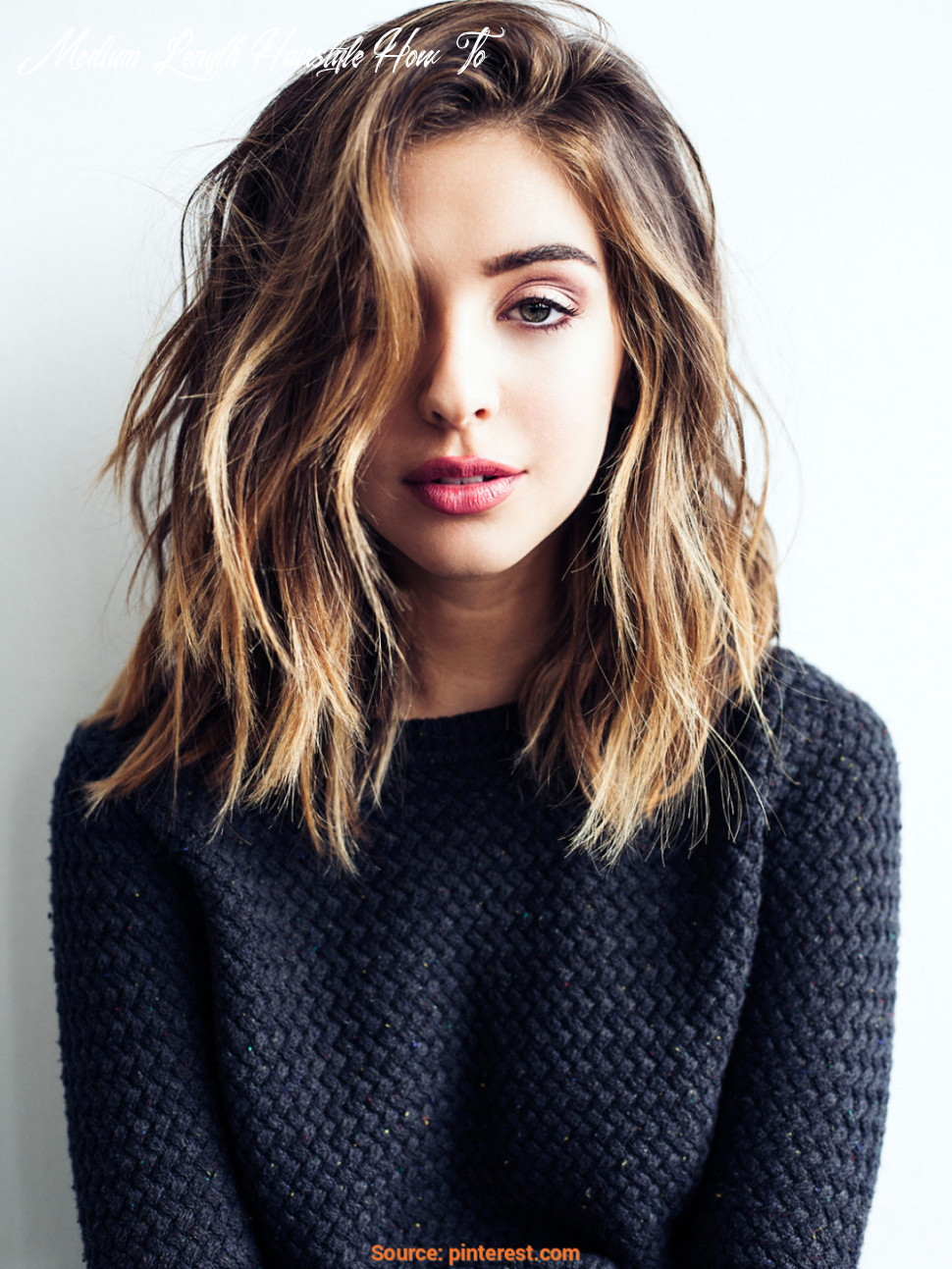 10 cute & easy hairstyles for shoulder length hair medium length hairstyle how to