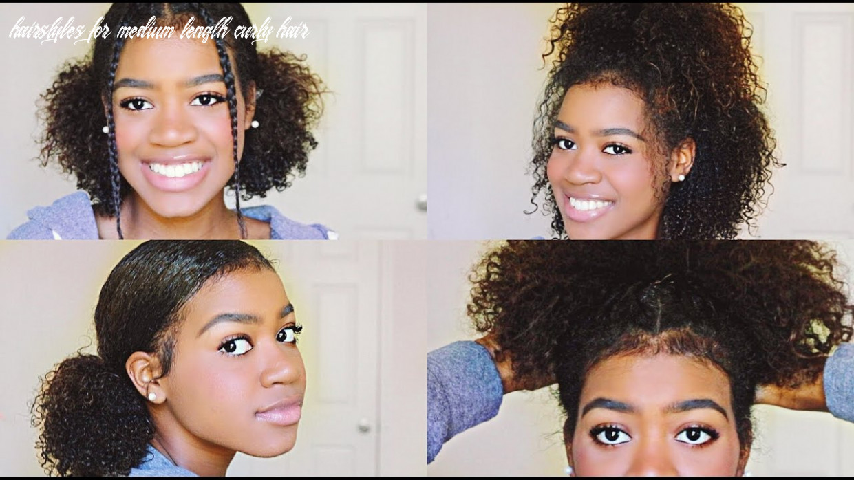 10 easy and cute hairstyles for medium length curly hair! hairstyles for medium length curly hair