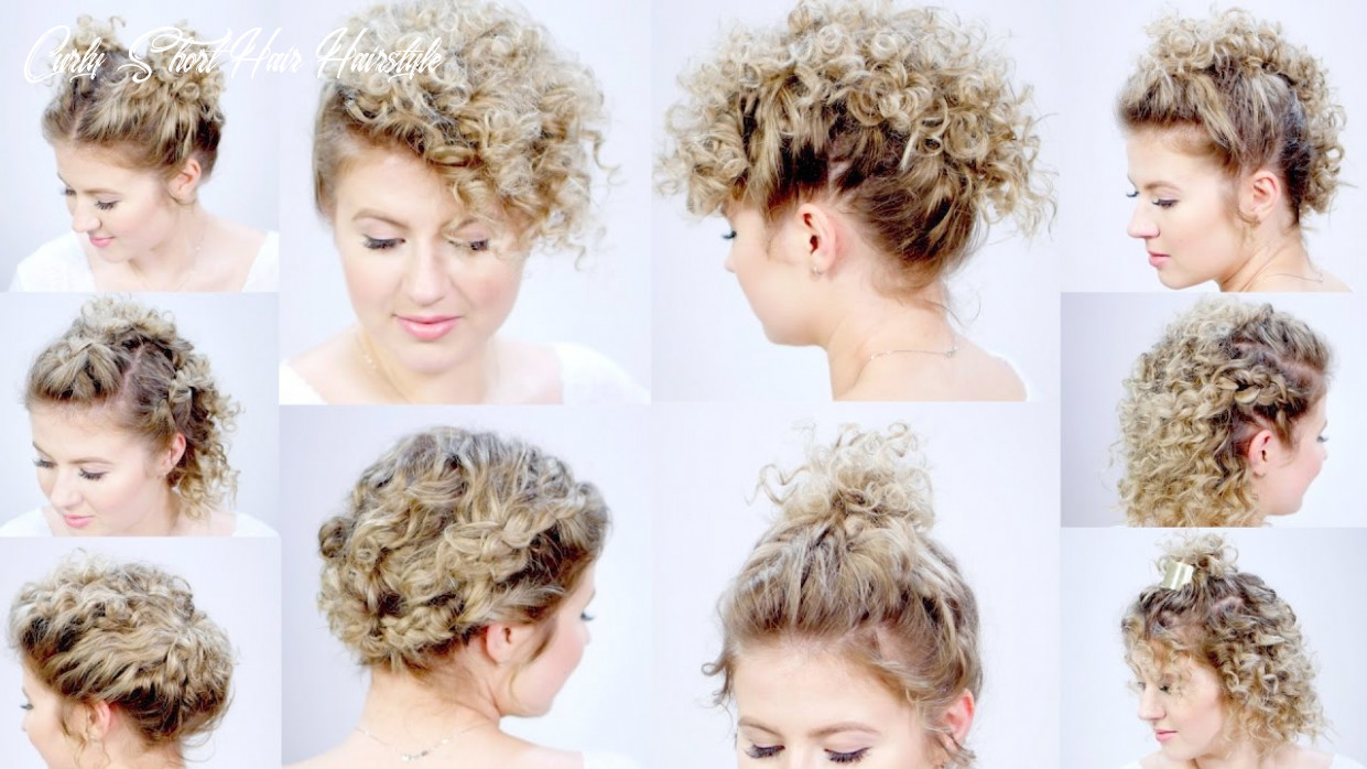 10 easy hairstyles for short hair with curling iron   milabu curly short hair hairstyle