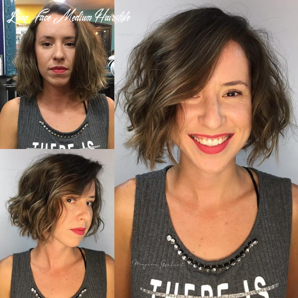 10 most flattering hairstyles for long faces to look shorter long face medium hairstyle