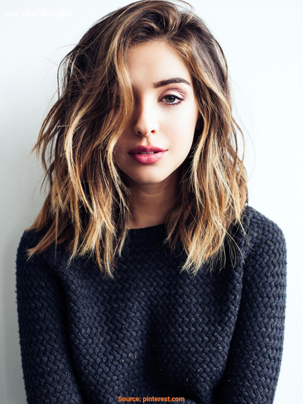 11 cute & easy hairstyles for shoulder length hair mid short hairstyles