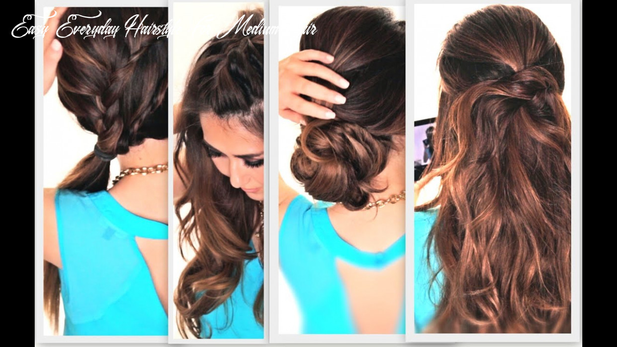 11 easy lazy hairstyles | cute everyday hairstyle easy everyday hairstyle for medium hair