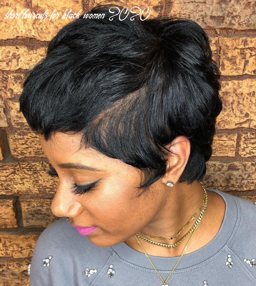 11 great short hairstyles for black women | short hair with bangs
