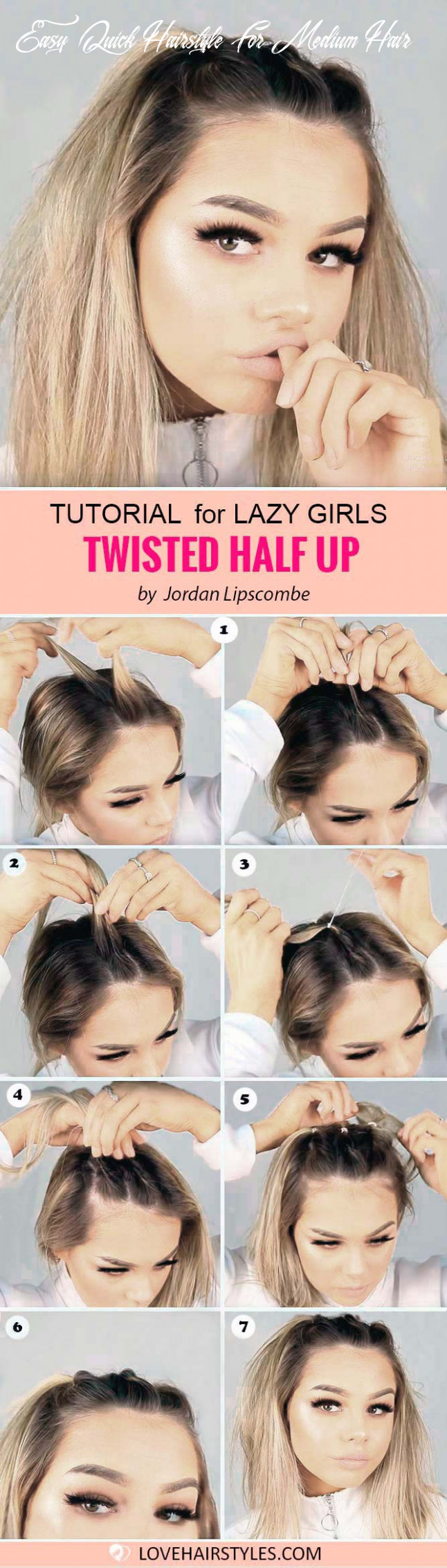 11 perfectly easy hairstyles for medium hair   lovehairstyles easy quick hairstyle for medium hair