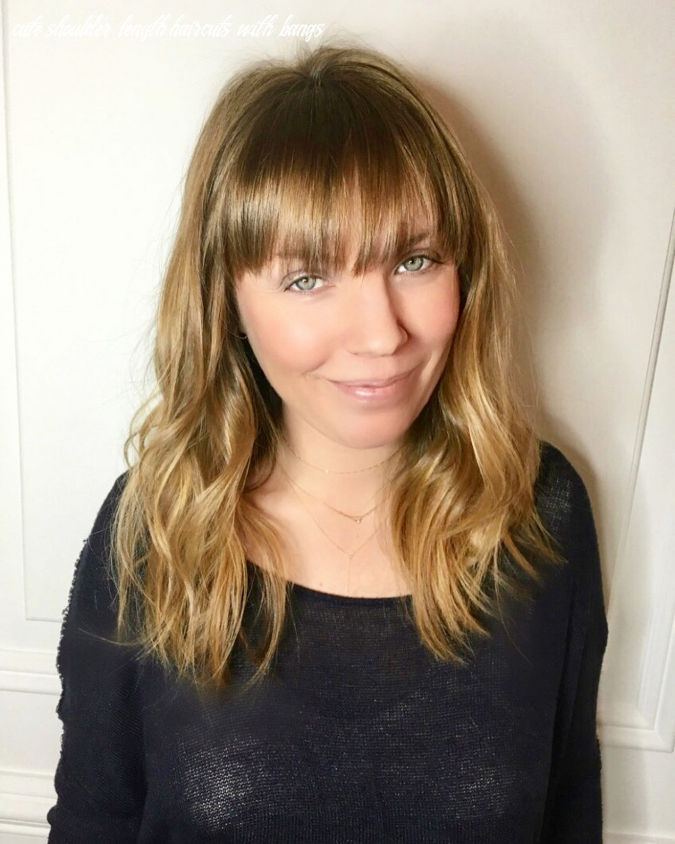11 popular medium length hairstyles with bangs in 11 cute shoulder length haircuts with bangs