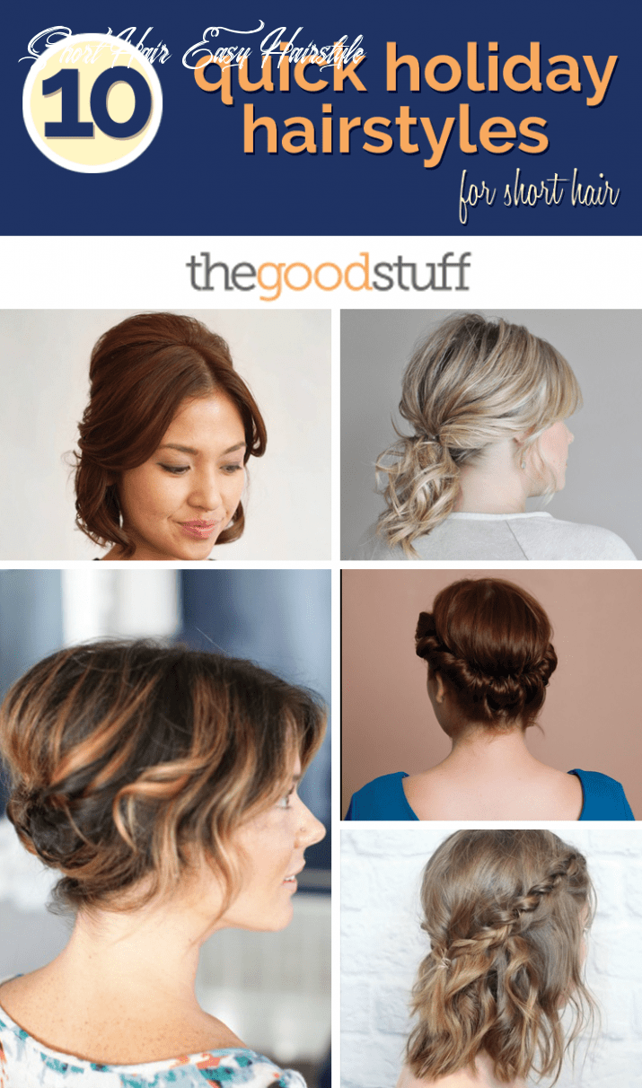 11 quick holiday hairstyles for short hair thegoodstuff short hair easy hairstyle