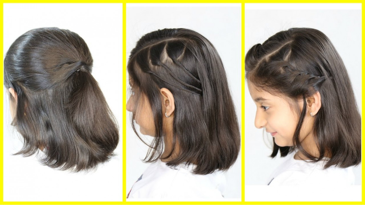 11 simple & cute hairstyles (new) for short/medium hair | mymissanand hairstyles for girls with short hair